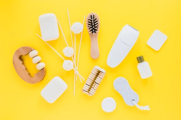 Composição de produtos de beleza com sabonetes
