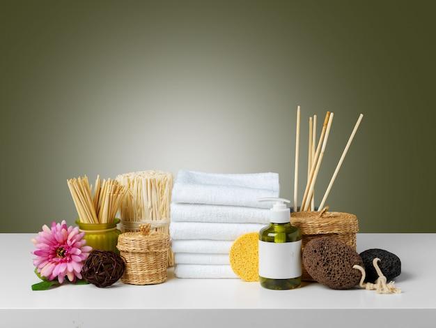 Composição de produtos de bem-estar de spa