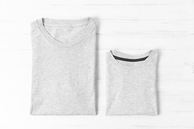 Composição de roupas de pai e filho