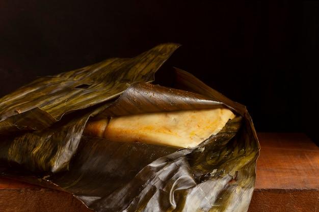 Composição de saborosos tamales tradicionais