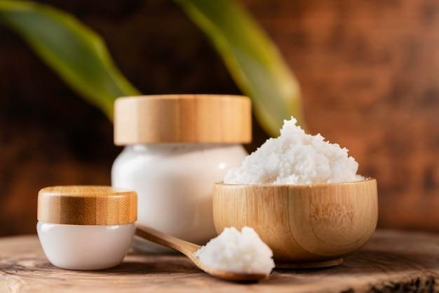 Composição de tratamento de beleza de manteiga de karité