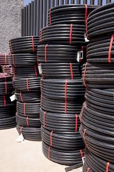 Composição de tubos de pvc de construção