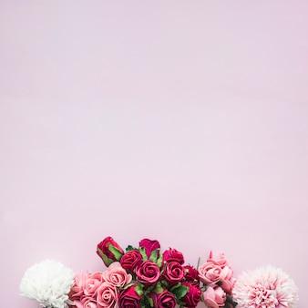 Composição de várias flores