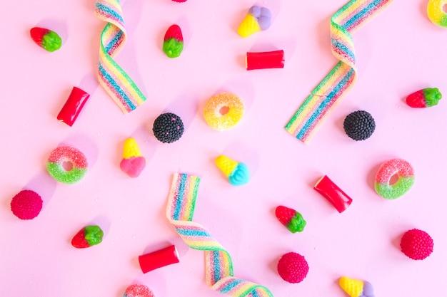 Composição de vários doces