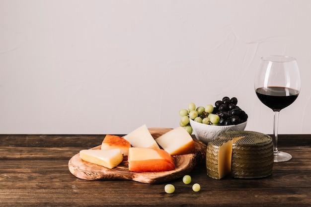 Composição de vinho e comida