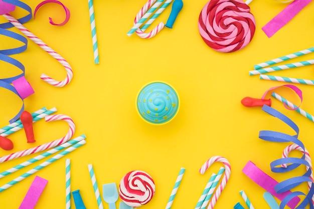 Composição do aniversário com sorvete