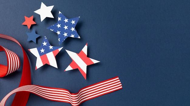 Composição do dia da independência com elementos festivos