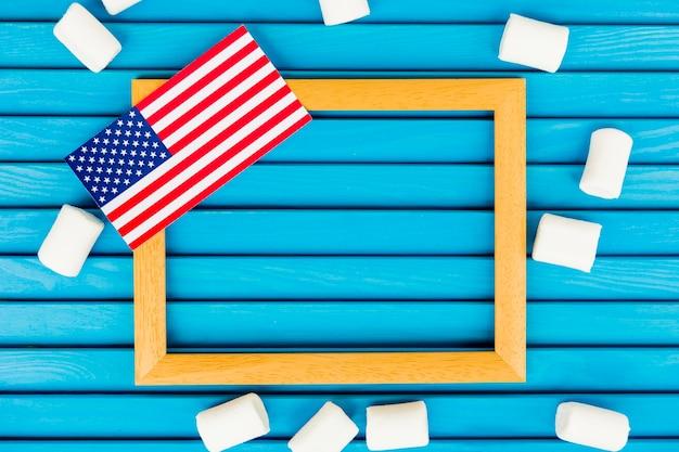 Composição do dia da independência com moldura