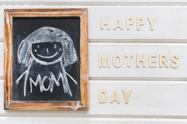 Composição do dia das mães com ardósia