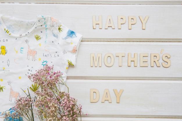 Composição do dia das mães com flores