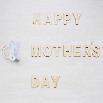 Composição do dia das mães com letras