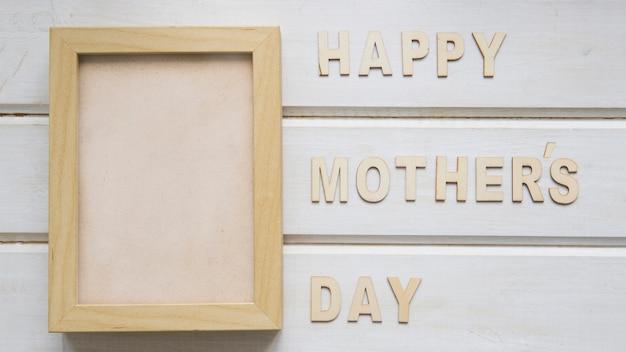 Composição do dia das mães com moldura