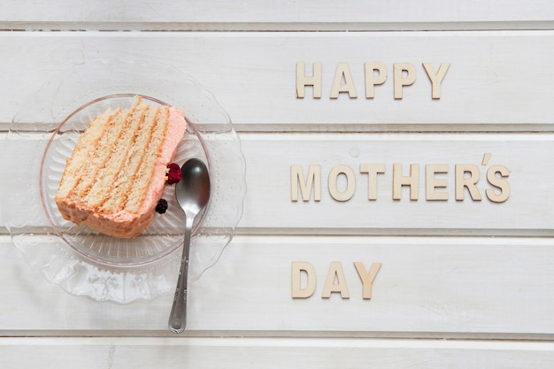 Composição do dia das mães com pão