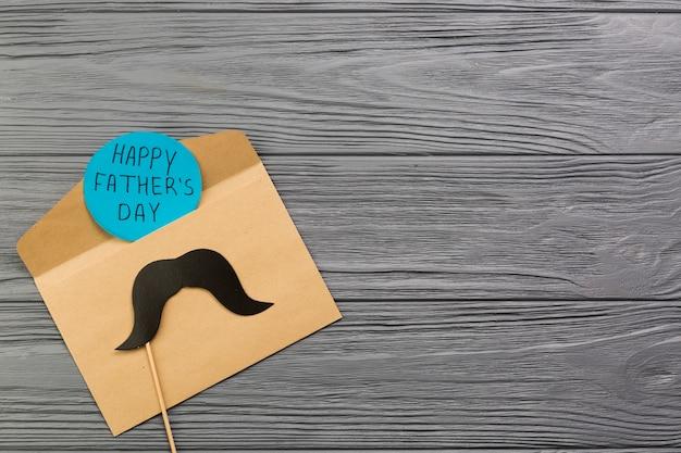 Composição do dia dos pais com cartão