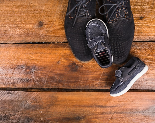 Composição do dia dos pais com sapatos