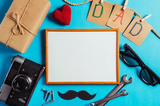 Composição do dia dos pais com whiteboard