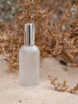 Composição do frasco de produto de beleza para a pele