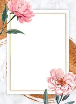 Composição do quadro em branco