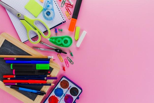 Composição dos materiais escolares