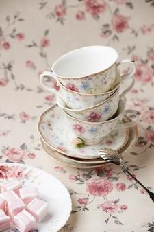 Composição elegante para chá