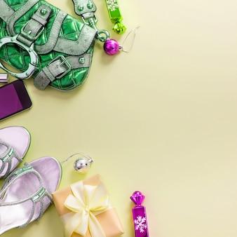 Composição festiva, conjunto de acessórios jóias presentes