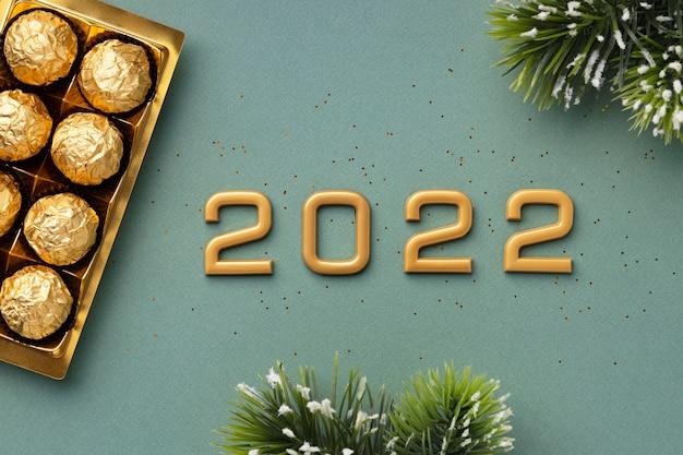 Composição festiva de ano novo de 2022
