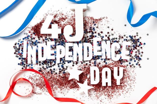 Composição festiva de elementos de 4 de julho