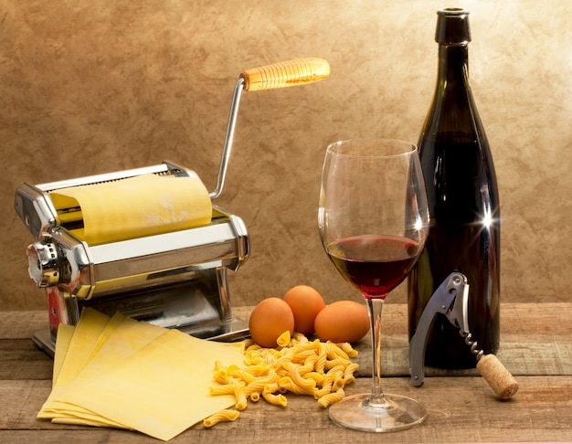 Composição gourmet italiana