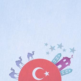 Composição linda turquia aquarela
