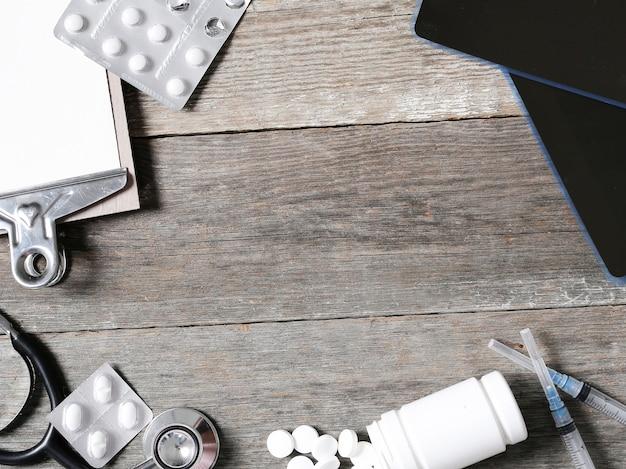 Composição médica com comprimidos