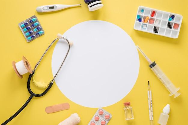 Composição médica plana leiga