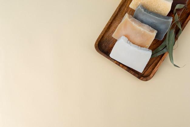 Composição natural do sabonete autocuidado