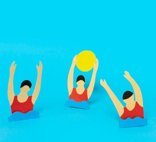 Composição olímpica em estilo jornal de vista frontal