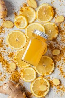 Composição plana de alimentos saudáveis para aumentar a imunidade