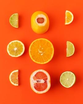 Composição plana de comida vegetariana saudável