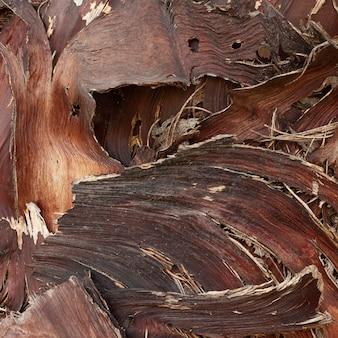 Composição plana de madeira