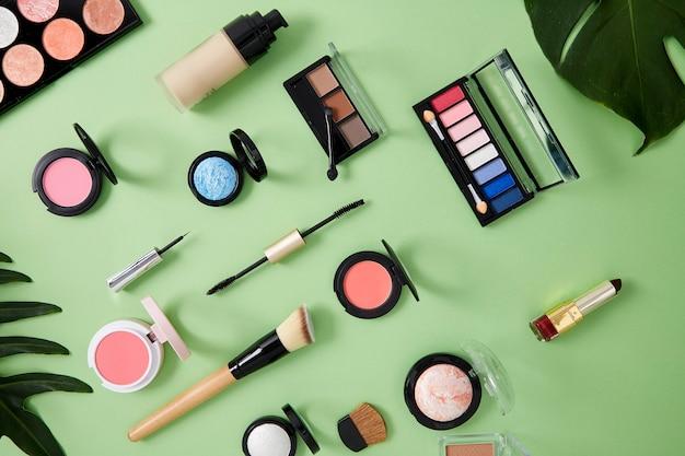 Composição plana leiga com pele cosmética