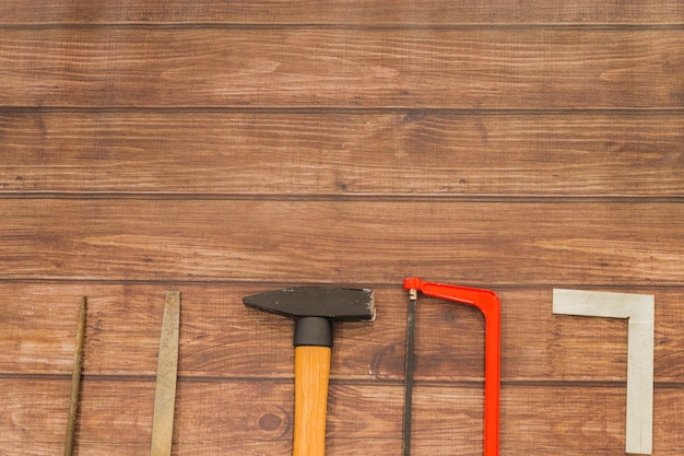Composição plana leiga de ferramentas
