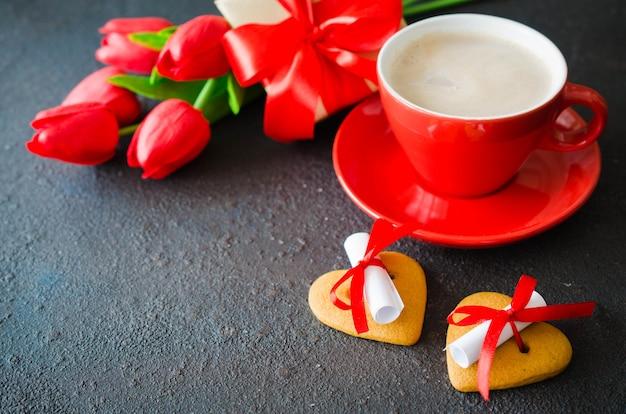 Composição romântica para o dia dos namorados, aniversário ou dia das mães.
