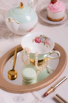Composição sofisticada de chá