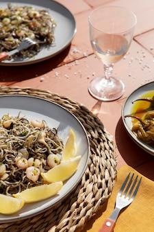 Composição tradicional de gulas deliciosas
