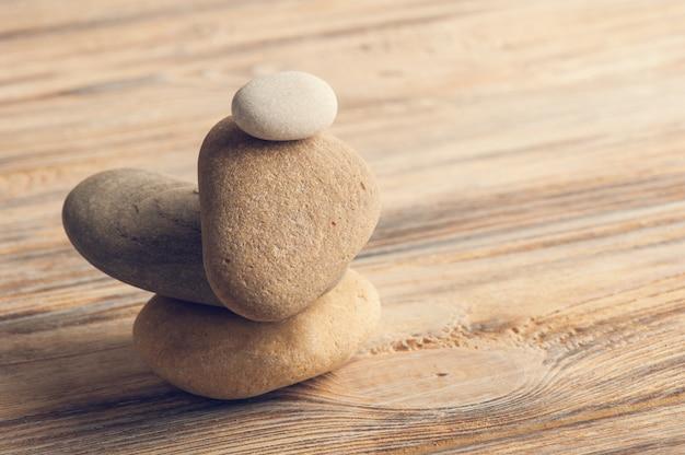 Composição zen com pedras