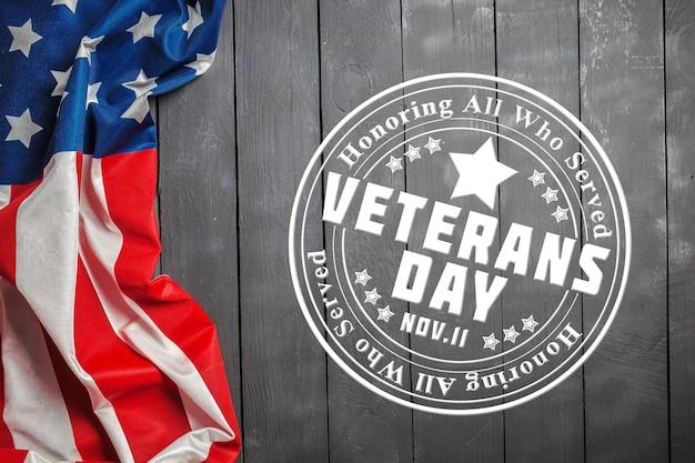 Composto da bandeira do dia dos veteranos