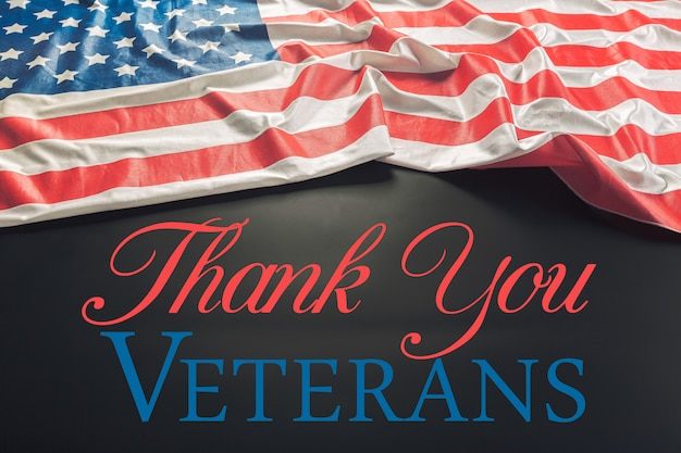 Composto, de, bandeira dia veterans
