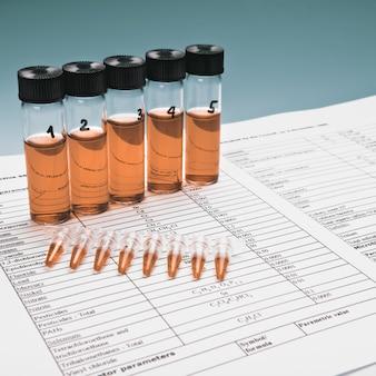 Compostos biológicos ou químicos para testar