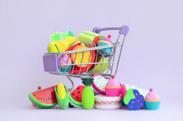 Comprar comida diet e frutas online. carrinho de compras