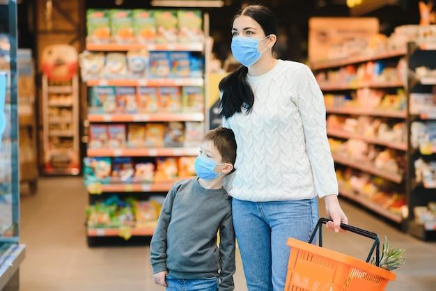 Compras com crianças durante o surto de vírus