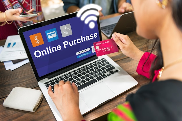 Compras on-line pagamento e-commerce banking