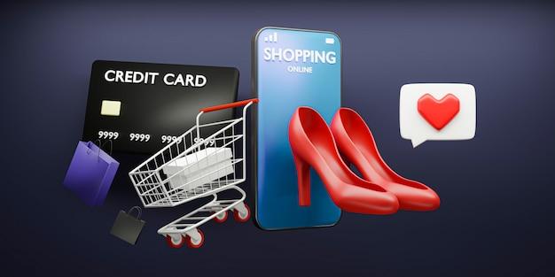 Compras on-line por smartphone no aplicativo
