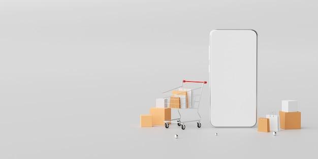 Compras online no aplicativo móvel